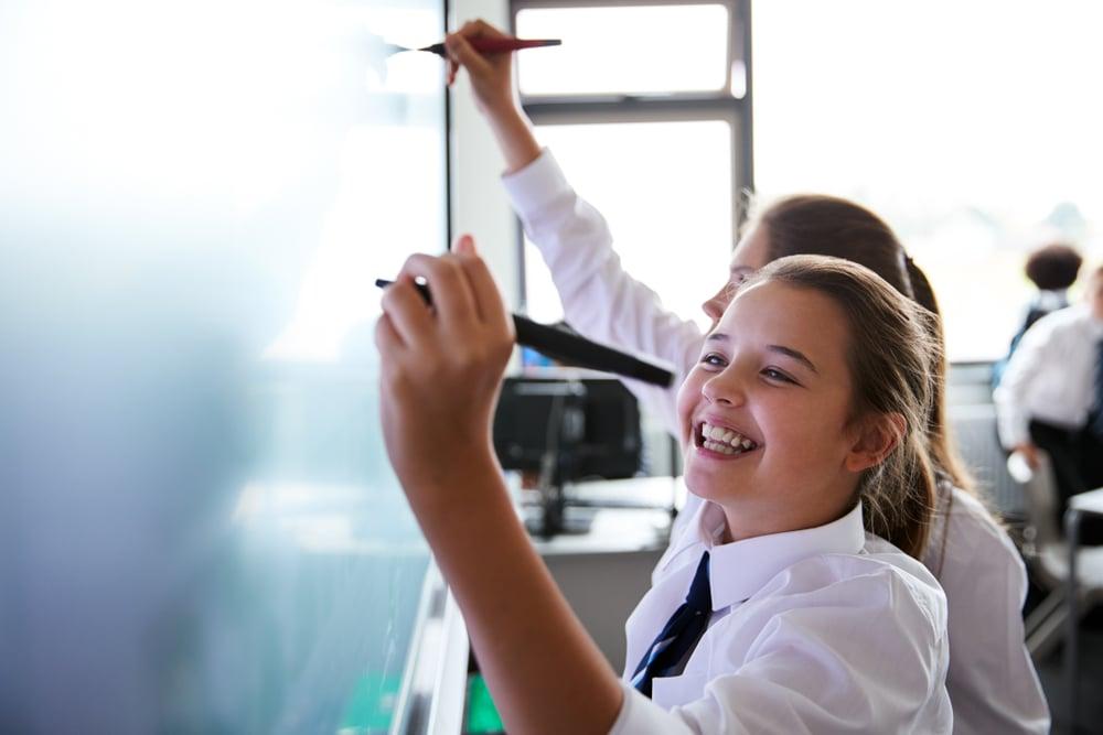 ICT planning - whiteboard girl (medium size)